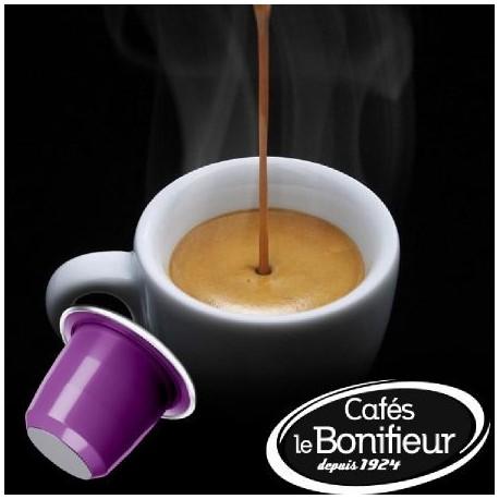 Le Bonifieur Capsules de café aromatisées au Chocolat compatibles Nespresso®