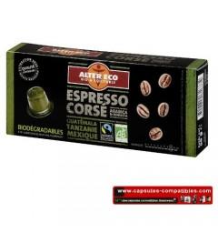 Alter Eco capsules de café Bio Corsées pour Nespresso