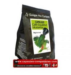 Café Equateur by Le Temps des Cerises coffee capsules.