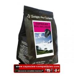 Capsules Indes Malabar compatibles Nespresso ® Le Temps des Cerises