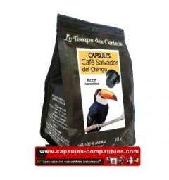 Café Salvador by Le Temps des Cerises coffee capsules.