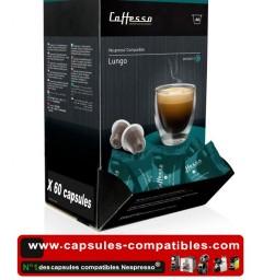 Lungo by Caffesso, 60 Nespresso® compatible capsules.