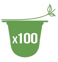 100 Opercules biodégradables pour capsules compatibles