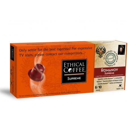 Romanov, capsules compatibles Nespresso® Ethical Cofffee