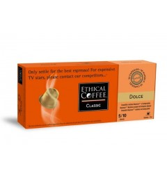 Dolce capsules biodégradables compatibles Nespresso ® Ethical Coffee