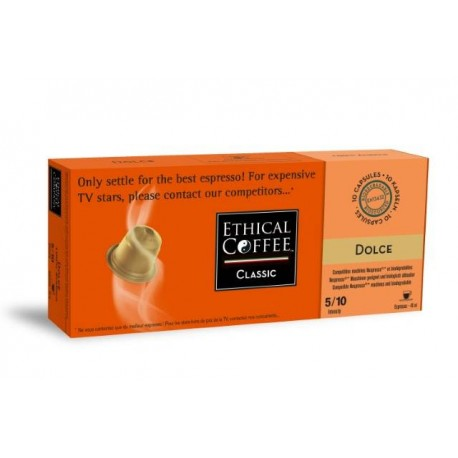 Dolce Ethical Coffee capsules biodegradable