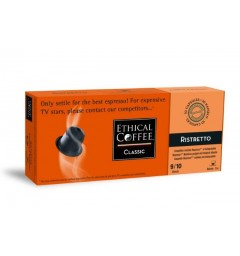 Ristretto capsules Biodégradables compatibles Nespresso ® Ethical coffee