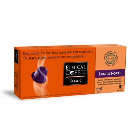 Lungo Forte Ethical Coffee compatibles Nespresso