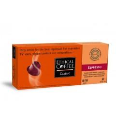 Ethical Coffee, Espresso capsules Biodégradables compatibles Nespresso.