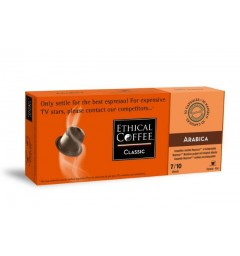 Arabica, biodegradable and Nespresso® compatible capsules.