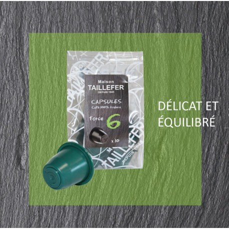 Maison TAILLEFER capsules compatibles Nespresso® Force 6