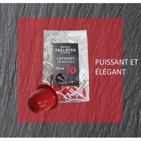 Maison TAILLEFER capsules compatibles Nespresso® Force 10