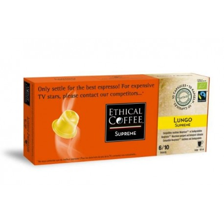 Lungo SUPREME Ethical-coffee compatibles Nespresso®