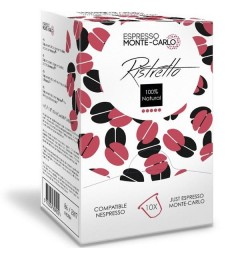 Espresso Monte-Carlo Ristretto, capsules compatibles Nespresso ®