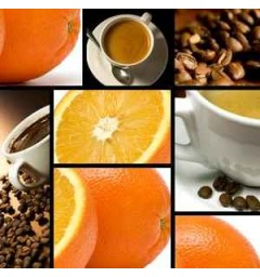 Coffee flavored with Orange