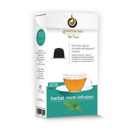 Capsules de Thé pour Nespresso ® à la menthe de Gourmesso