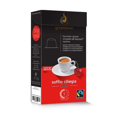 Capsules arôme Cerise compatibles Nespresso ® Gourmesso