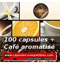 Pack Compatible Capsule Capsul'in 100 aroma coffee