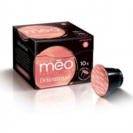 Capsules Délicatesse compatibles Nespresso ® de la marque Méo