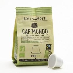 Cap Mundo Bio & Compost, Biloba capsules Bio compatibles Nespresso ®