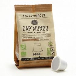 Cap Mundo Bio & Compost, Kolli Longberry capsules Bio compatibles Nespresso ®