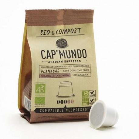 Cap Mundo, Planadas capsules Bio compatibles Nespresso