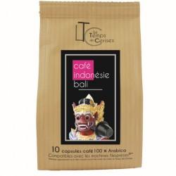 Indonésie Bali capsules compatibles Nespresso ® Le temps des Cerises