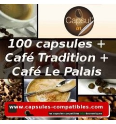 Pack capsules Capsul'in 100 + Le Palais + Tradition