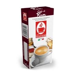 Rhum flavoured Caffè Bonini, Nespresso® compatible pods.