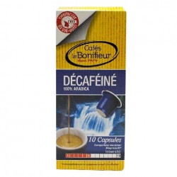Decaf Le Bonifieur coffee capsules, Nespresso® compatible.