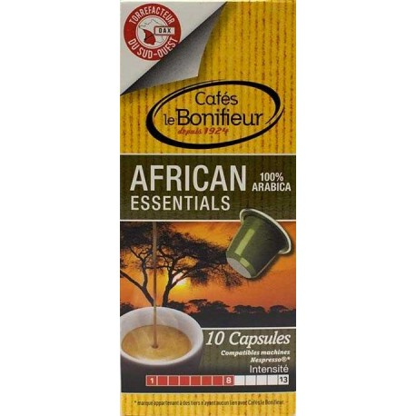 Coffee Bonifieur compatible Nespresso Capsules African Essentials