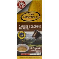 Pure Comlumbian Le Bonifieur coffee capsules, Nespresso® compatible.