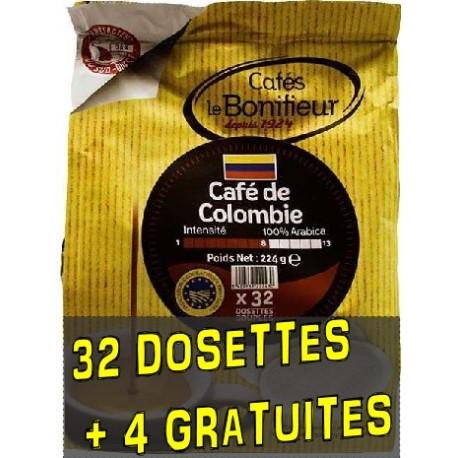 Dosettes compatibles Senseo ® Colombie de Cafés Le Bonifieur