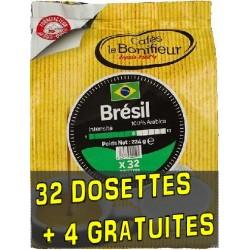 Dosettes compatibles Senseo ® Brésil de Cafés Le Bonifieur