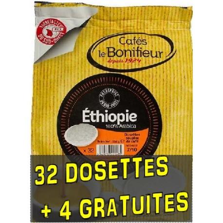 Dosettes compatibles Senseo ® Ethiopie de Cafés Le Bonifieur