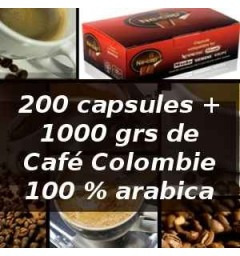 Capsul'in Pack 200 capsules + Colombie 250grs x 4