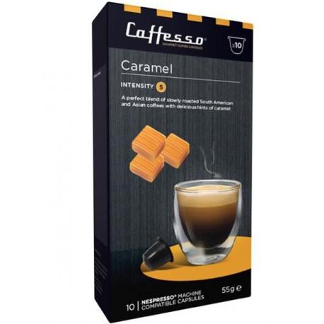Capsules de café arôme Caramel compatibles Nespresso ® Caffesso