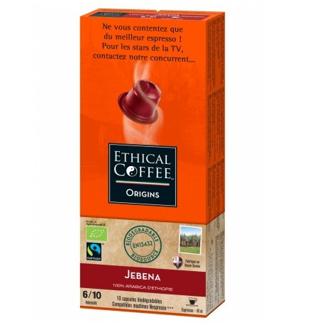 Jebena Ethical-coffee Nespresso ® compatible capsules