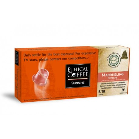Mandheling Supprème Ethical-coffee capsules compatible Nespresso