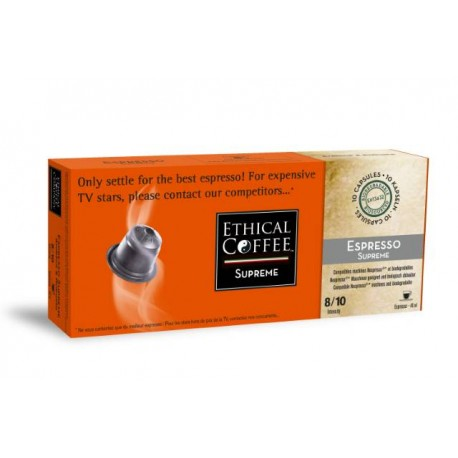 Espresso SUPREME Ethical-compatible Nespresso coffee