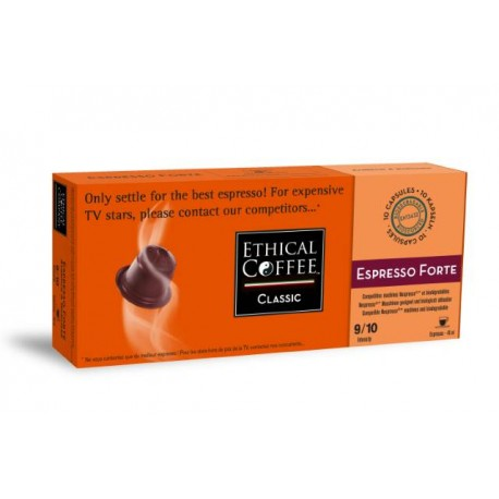 Espresso Forte capsules Biodégradables compatibles Nespresso ® Ethical coffee