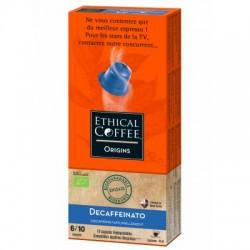 Decaffeinato Bio capsules Biodégradables compatibles Nespresso ® Ethical coffee