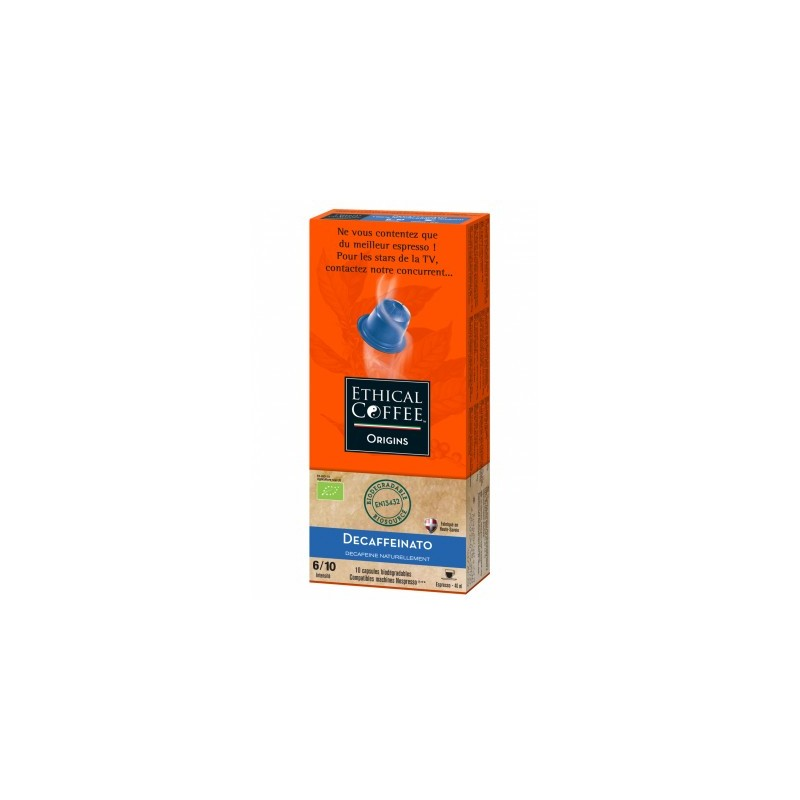 Deca Bio biodegradable capsule compatible Nespresso ® Ethical Coffee