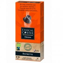 Ristretto Bio Max Havelaar capsules Biodégradables compatibles Nespresso ® Ethical coffee