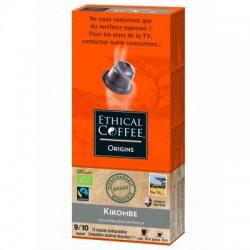 Kikombe Bio Max Havelaar capsules Biodégradables compatibles Nespresso ® Ethical coffee