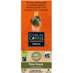 Inca Soave by Ethical coffee, biodegradable and Nespresso® compatible capsules.