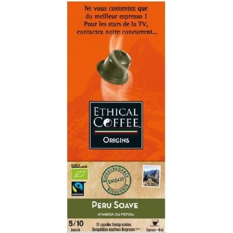 Inca Soave, Ethical Coffee capsules biodégradables