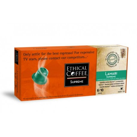 Lamari Supprème Ethical-coffee capsules compatible Nespresso