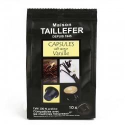 Capsules compatibles Nespresso ® arôme Vanille de la Maison Taillefer