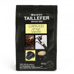 Vanilla flavour by Maison TAILLEFER Nespresso® compatible capsules.